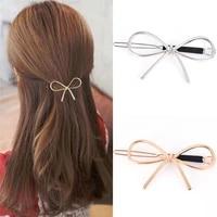 2020 new vintage hair clip for women elegant design metal bow knot hair barrettes hair pins head accessories