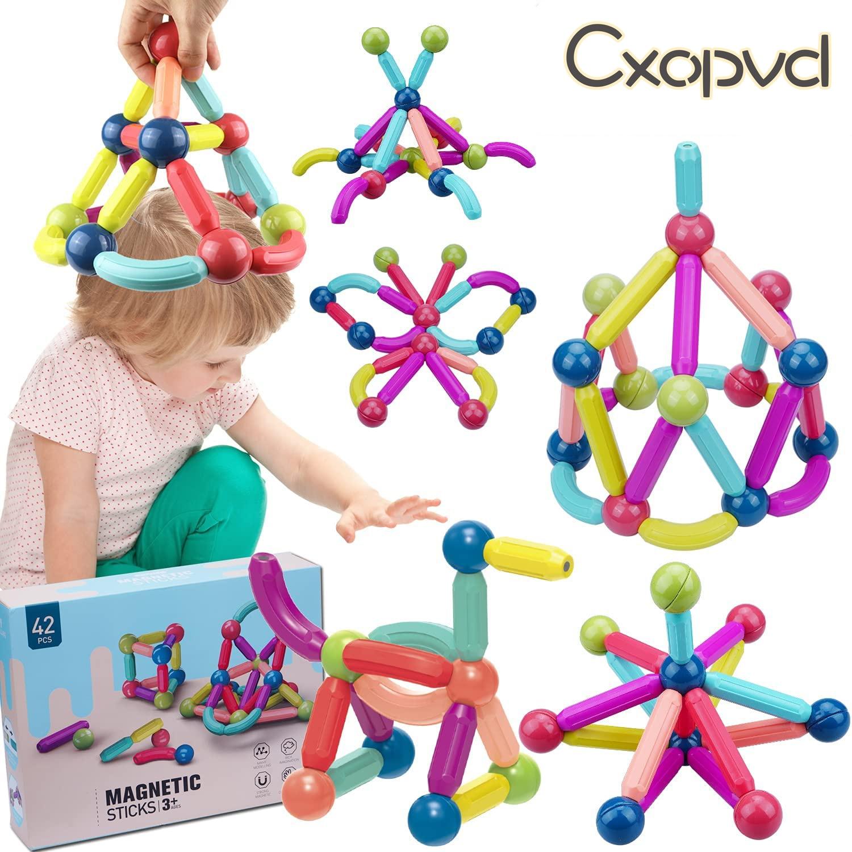 Магнитные строительные палочки, игрушечные блоки, Обучающие строительные игрушки, 3D Магнитные строительные пазлы, игрушки, подарок для дет...