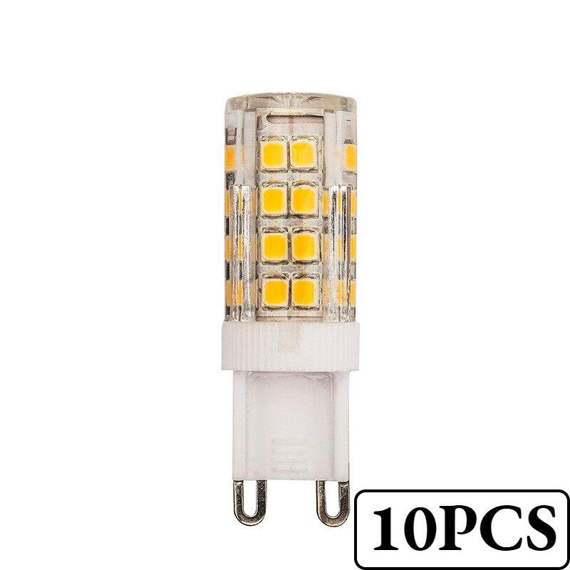 10 шт. G9 Светодиодная лампа 5 Вт теплый/холодный белый AC220V-240V 360 градусов угол луча мини 1-5 шт. G4 E14 светодиодные лампочки