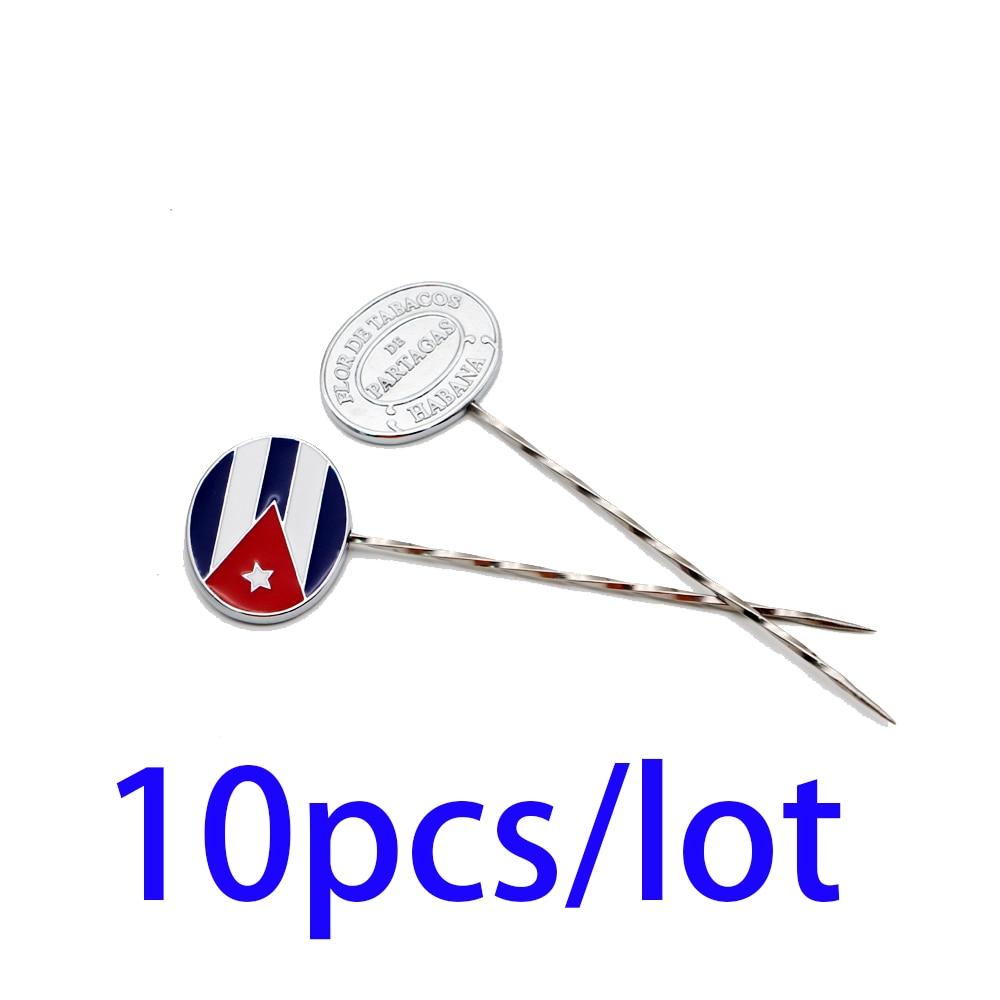 10pcs Stainless Steel Cigar Needle Metal Portable Cigarette Draw Tool Tobacco Dredge Loose Cigars Enhancer Smoking Accessories