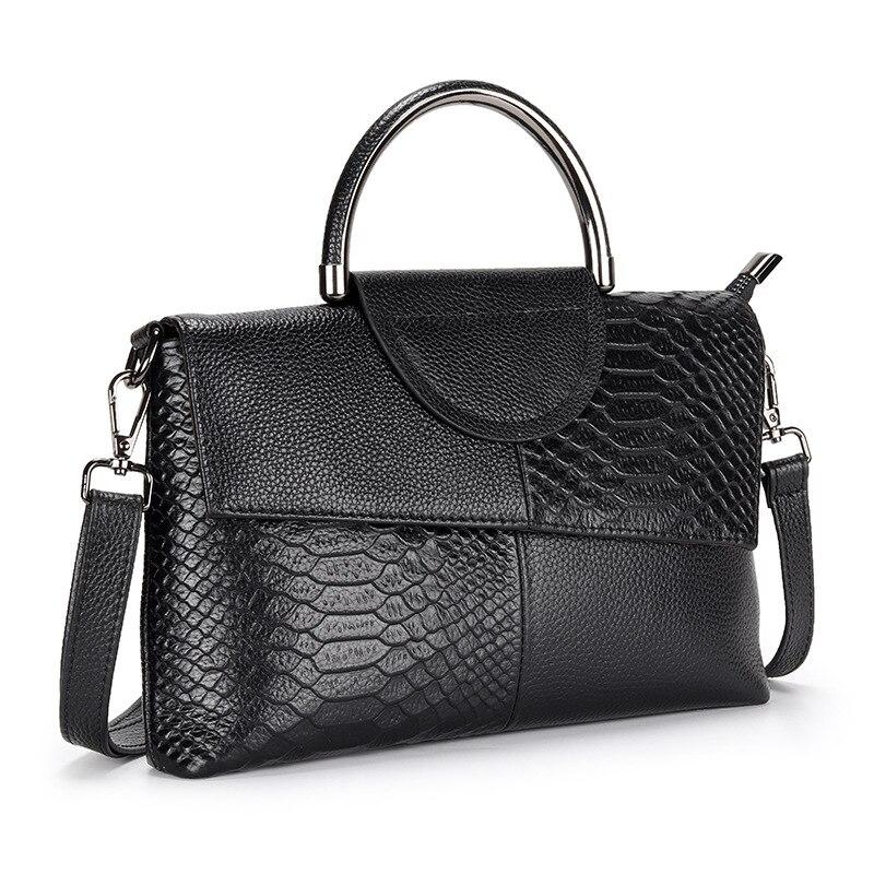 Bolsos de lujo, bandolera de cuero para mujer, diseño de cocodrilo pequeño, de Color sólido bolso cruzado, bolsos de hombro para mujer, bolsa principal