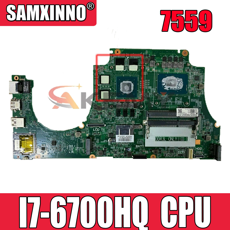 DAAM9AMB8D0 اللوحة الأم لأجهزة الكمبيوتر المحمول ديل انسبايرون 7559 كور I7-6700HQ SR2FQ GTX 960 متر اللوحة الرئيسية CN-0MPYPP 0MPYPP N16P-GX-A2