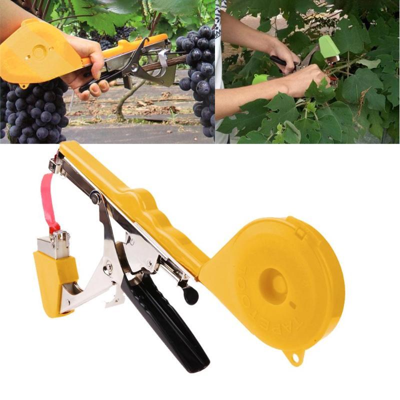 Máquina de amarração planta de jardim tapetool tapener com 10 rolos fita conjunto para vegetais, uva, tomate, pepino, pimenta flor