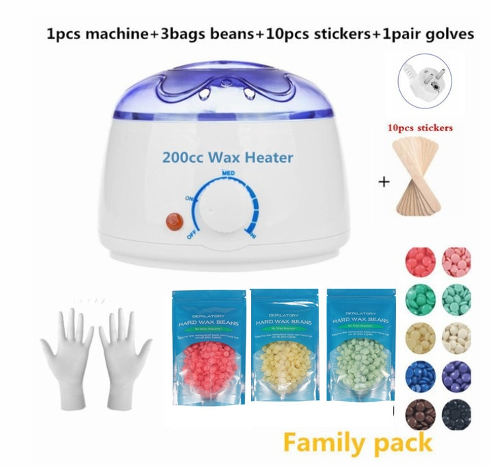 Dropshipping Paraffin Wax Warmer 200cc mini Wax Heater Feet Mini SPA Hand Machine Body Depilatory Hair Removal Tool enlarge