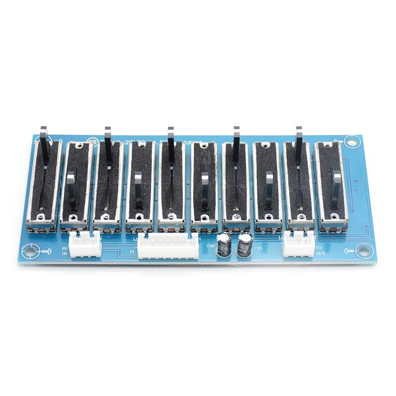 10 banda estéreo EQ ecualizador de canal 2,0 preamplificador ajustable tono modulo preamplificador