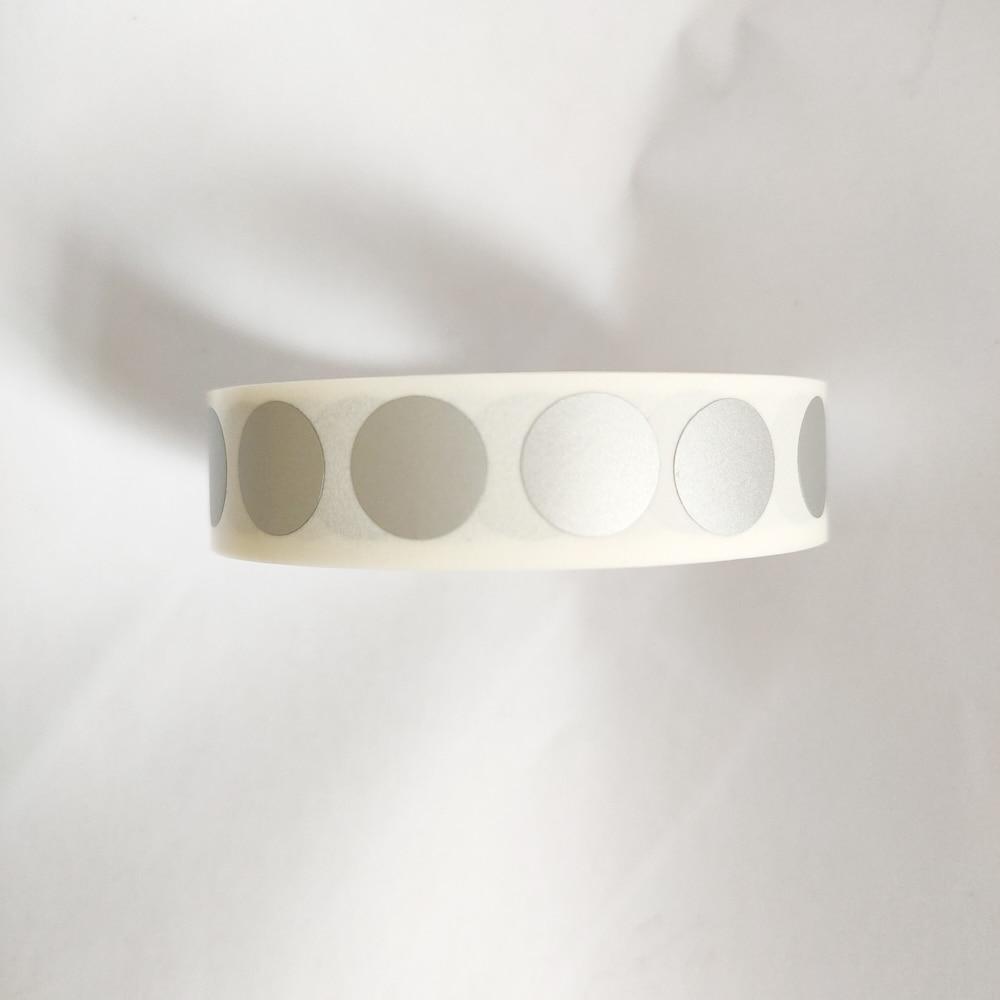 1000 шт., 0,5 дюйма, 12,5 мм, маленькие круглые серебряные наклейки от царапин, рекламные игры, сувениры