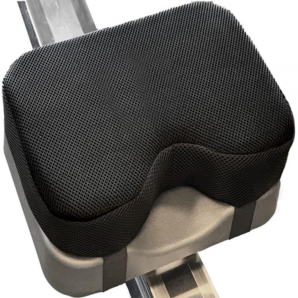 Almohadilla para máquina de remar resistente, almohadilla de espuma de memoria, funda lavable para deportes al aire libre, cojín de espuma de memoria fijo Horizontal para bicicleta