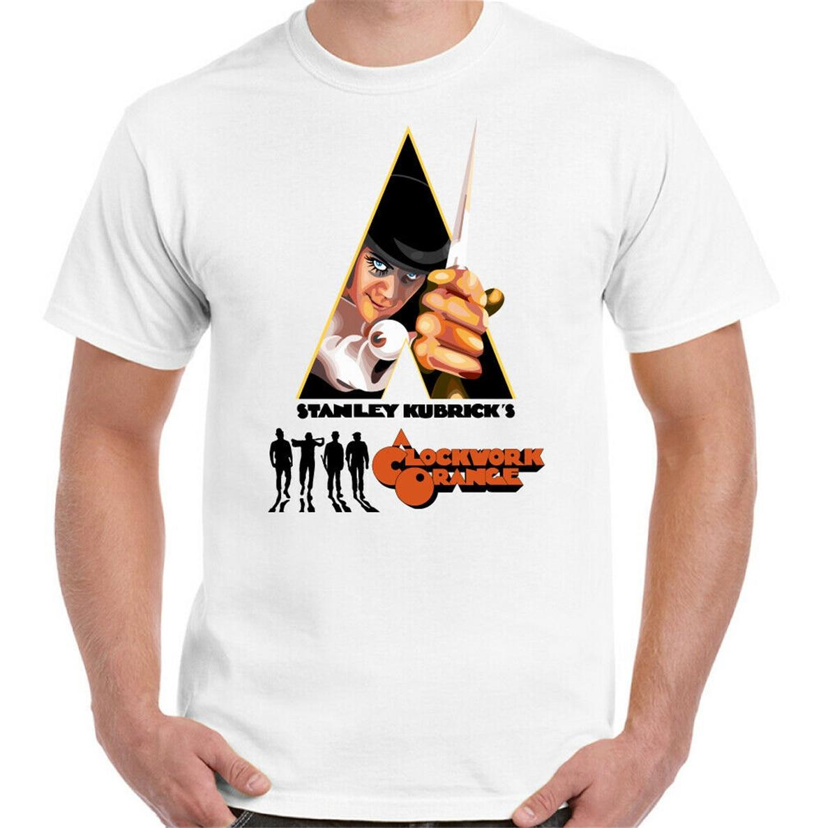 A Clockwork, camiseta naranja para hombres, Retro 70s, película Stanley kuladrillo, póster, camiseta de película, camisetas de manga corta, camiseta