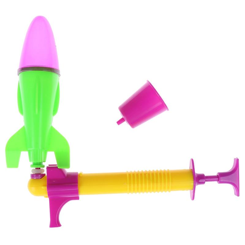 1 Juego de lanzadores de cohetes para exteriores, juguete lanzador de chorro de agua, cohete propulsado por agua para desarrollar experimentos de física de tallo inteligente