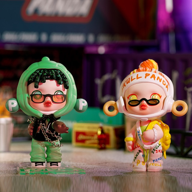 POPMART Skullpanda Hypepanda Series Blind Box Doll Binary Action Toys Figure Birthday Gift Kid Toy 6