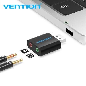 Image 5 - Внешняя звуковая карта USB Vention, 3,5 мм, адаптер для наушников и микрофона
