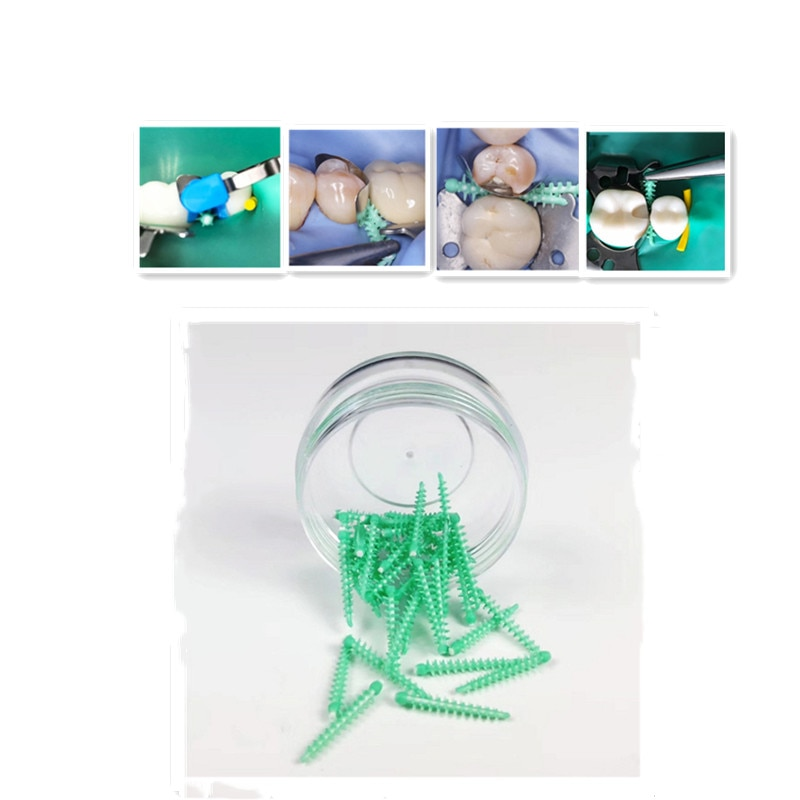 40 шт./коркор. стоматологические адаптивные силиконовые межзубные клины, стоматологические Матричные клины, Медицинские силиконовые Автокл...