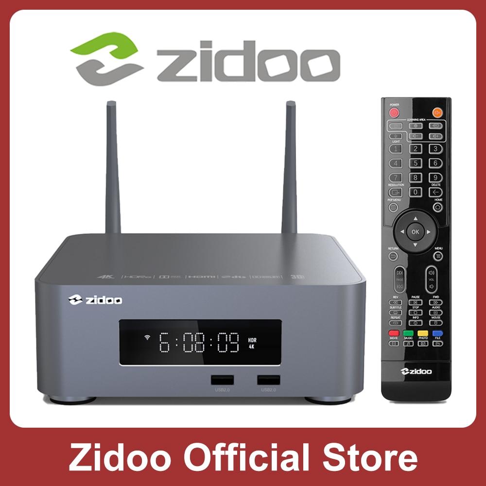 ZIDOO Z10Pro 4K مشغل الوسائط 2G DDR4 32G eMMC أندرويد 9.0 Z10Pro doble-Vision HDR10 + مجموعة صندوق علوي مع HDD خليج تصل إلى 16 تيرا بايت