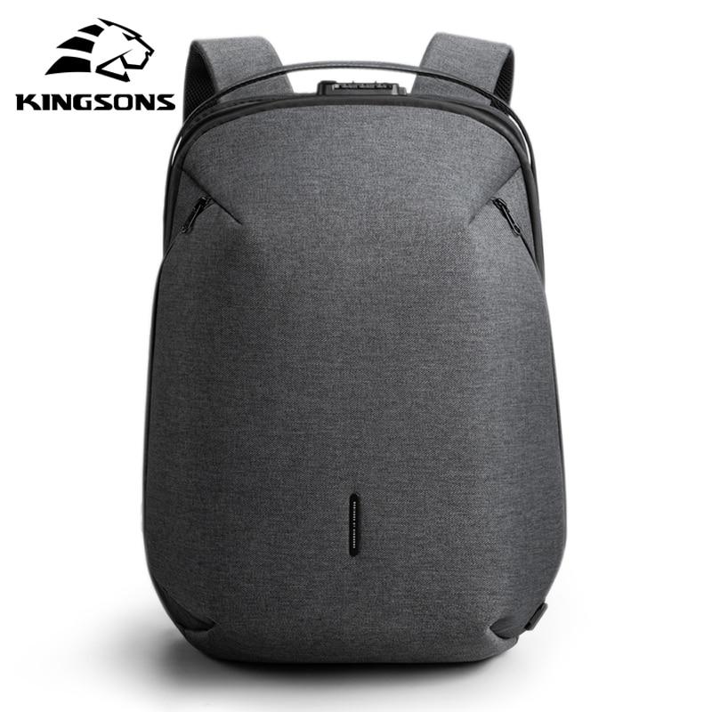 Kingsons 2020 Man Backpack Multifunctional Waterproof 15.6inch Laptop Multi-layer Pockets Bag Man USB Charging School Backpack