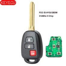 KEYECU مفتاح بعيد 2 + 1 زر ل 2015 تويوتا كامري FCC ID: HYQ12BDM مع G/H رقاقة