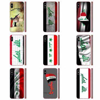 Şeffaf TPU çanta durumda HTC Desire 530 626 628 630 816 820 830 bir A9 M7 M8 M9 M10 e9 U11 U12 ömrü artı irak ulusal bayrağı