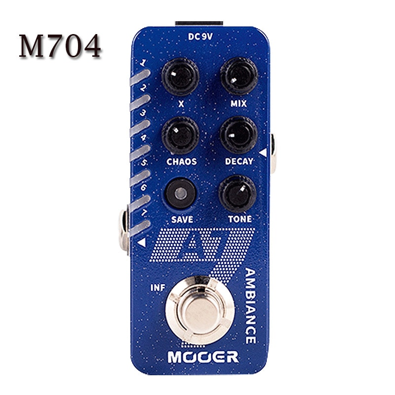 MOOER D7 Digital Delay Pedal Looper 150s E7 Synth Effect Pedal Guitar Tone Capture GTR Pedal A7 Reverb Pedal Infinite Sustain enlarge