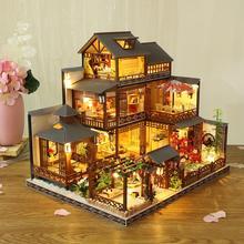 2020 nouveau en bois assemblé à la main modèle de construction bricolage Cottage grande Villa créative fille cadeau vacances anniversaire cadeau