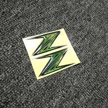 Z h2 motocicleta decalque adesivos forma 3d tanque almofada emblema z para kawasaki z125 z250 z300 z400 z650 z750 z800 z900 z1000 abs logotipo