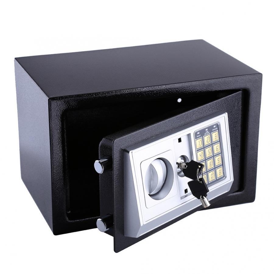 8.5L Digital Safe Box Portable Electronic Password Lock Security Box for Cash Deposit Jewelry Document Contract Certificant