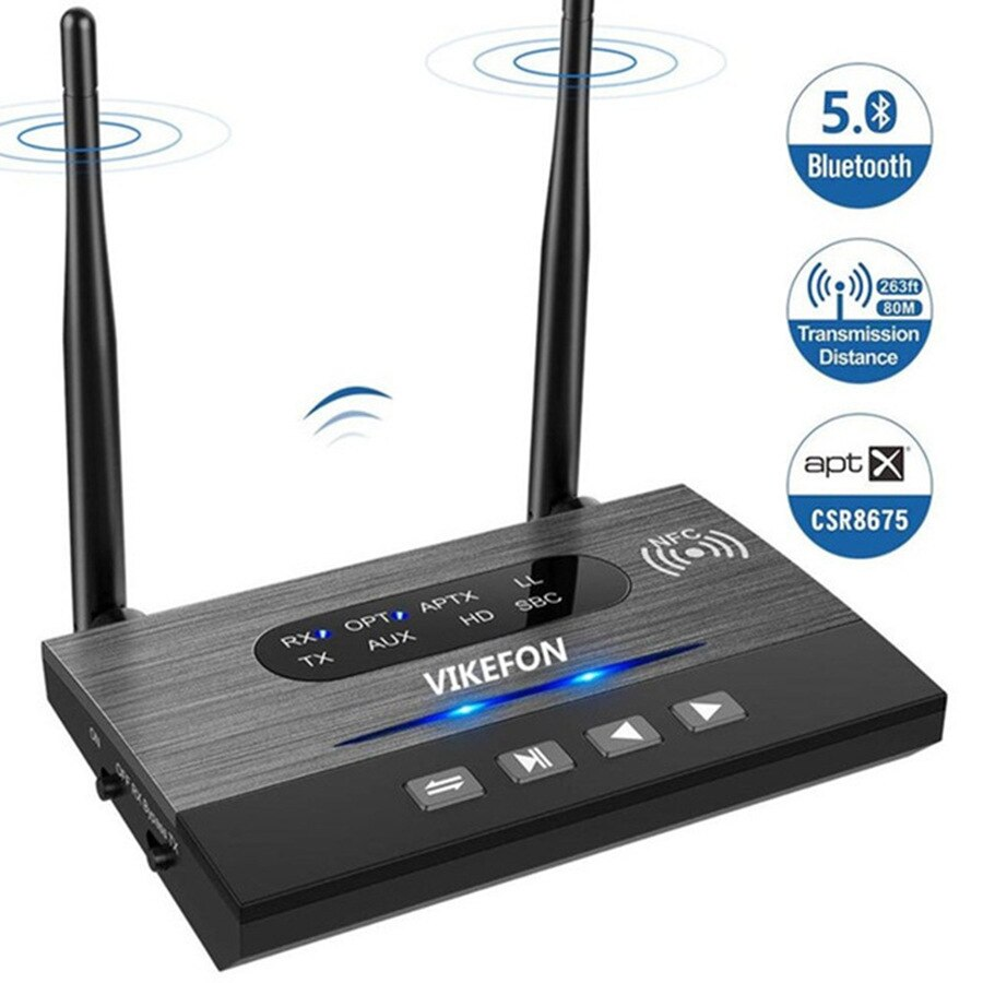 جهاز إرسال واستقبال بلوتوث 5.0 csr8675 ، محول صوت موسيقى لاسلكي للتلفزيون والكمبيوتر الشخصي ، AptX HD ، زمن انتقال منخفض ، RCA 3.5 مللي متر ، مقبس AUX