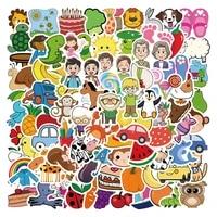90pcs lot Cartoon Animated Baby Training Sticker DIY Childrens Toys Luggage Car Bottle Waterproof Graffiti Sticker