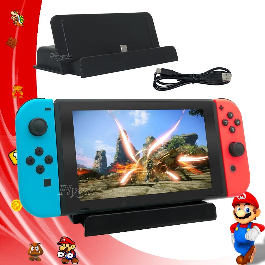Accesorios de interruptor Nintend soporte de cargador USB Nintendoswitch estación de carga soporte de consola tipo C para Nintendo Switch juego