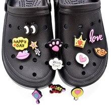 Pantofole da foro fai-da-te accessori per scarpe per Designer accessori decorazione croc testo cartone animato modello scarpa da giardino decorazione misura regalo per bambini