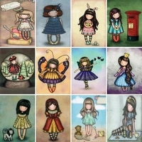 diy 5d diamond painting new cartoon girl cross stitch kit full drill square embroidery mosaic art picture home decor gift