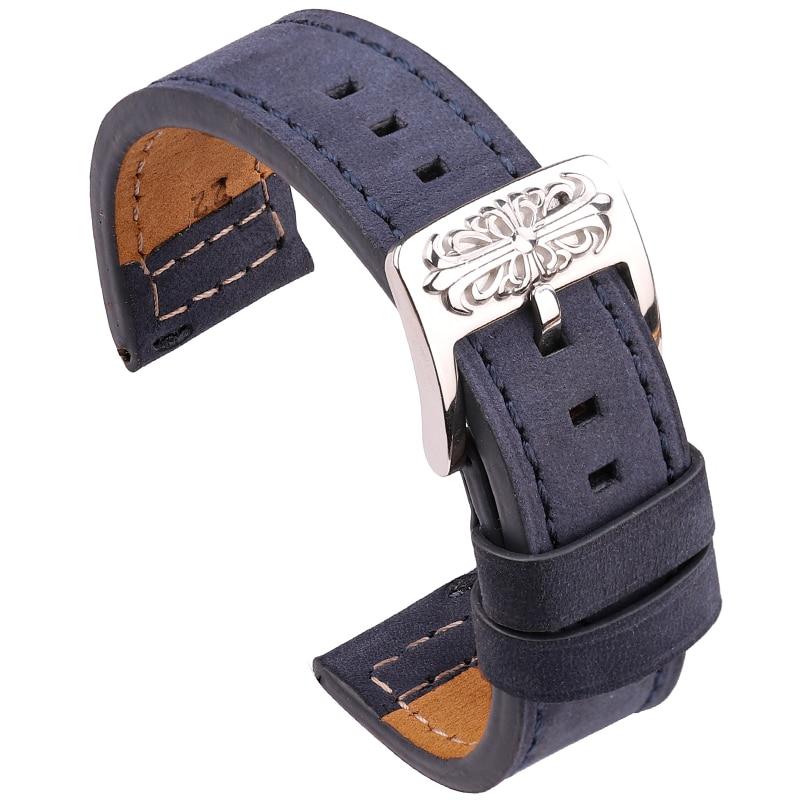 genuine leather 20mm watchbands for tissot prs516 series t91 men leather watch strap sport watch band male clock bracelet belt Genuine Leather Watch Band Bracelet 20mm 22mm Black Blue Gray Brown Women Men Cowhide Watchbands Strap Accessories