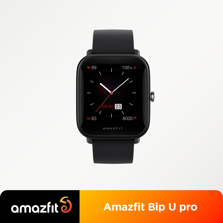 إصدار عالمي من Amazfit Bip U Pro ساعة ذكية بنظام تحديد المواقع 1.43 بوصة 50 ساعة تواجه شاشة ملونة 5 ATM 60 + وضع رياضي تتبع معدل ضربات القلب