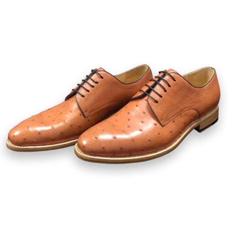 RVH-أحذية جلد النعام للرجال ، أحذية كاجوال مريحة للأعمال ، منتج جديد
