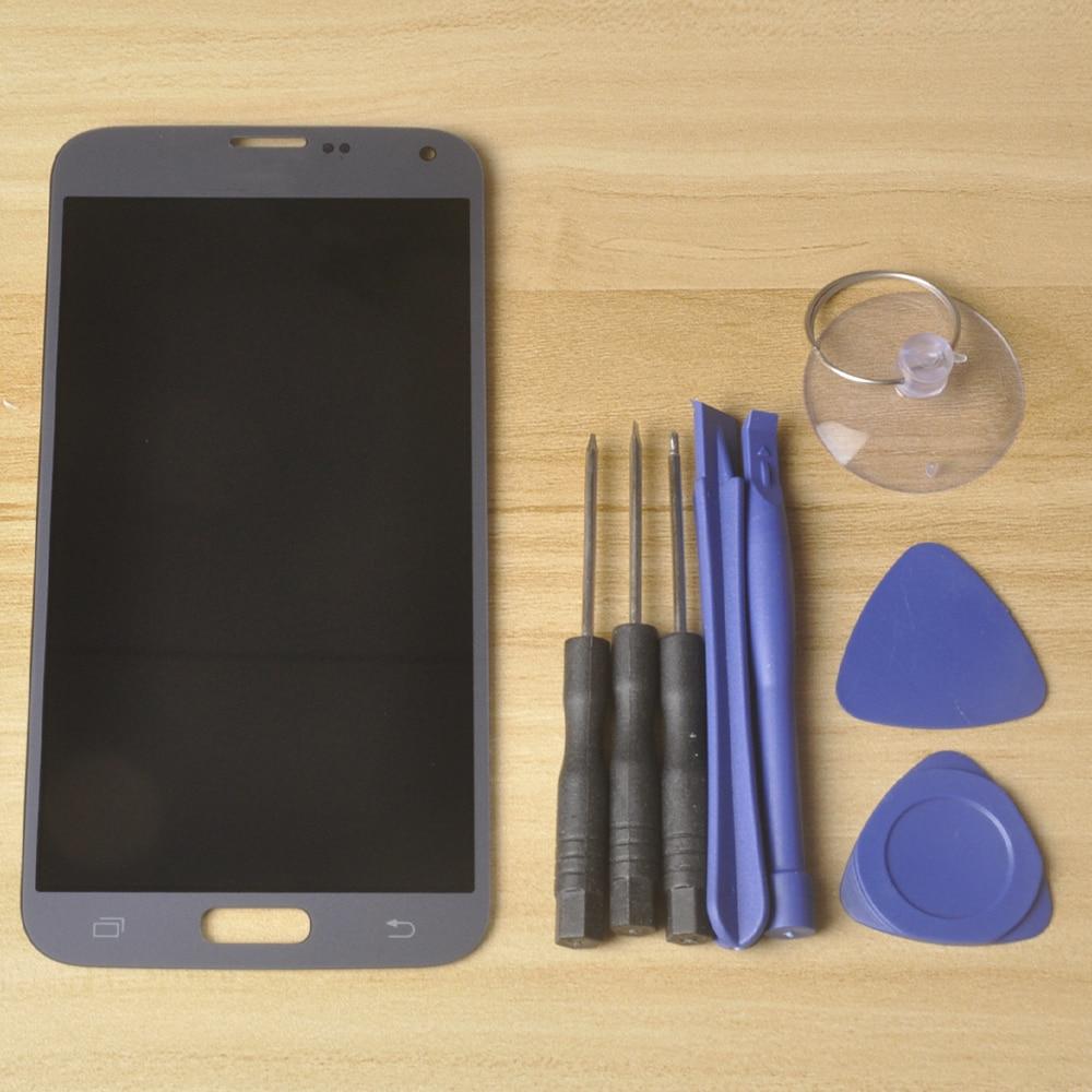 سوبر AMOLED 5.1 ''LCD لسامسونج غالاكسي S5 NEO LCD شاشة SM-G903M G903 G903F G903M LCD عرض تعمل باللمس الجمعية محول الأرقام