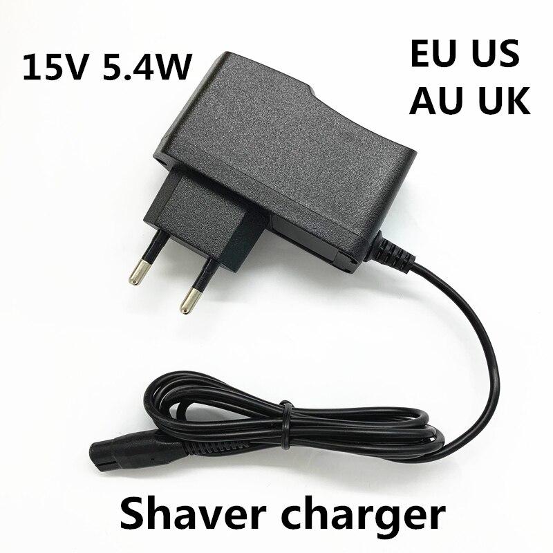 15В 0.36A 360ма 5,4 Вт 2-зубец зарядное устройство адаптер питания электробритва 15В вольт для PHILIPS бритвы HQ8505/6070/6075/6090
