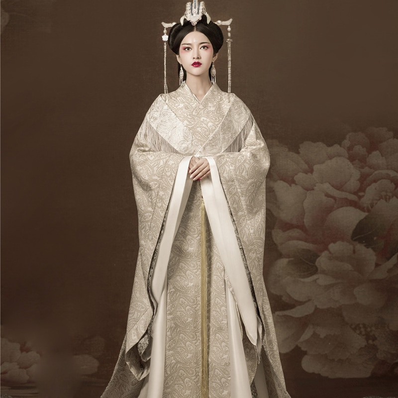 SiNanFu الجمالية الأميرة الإمبراطورة مرحلة الأداء Hanfu الأصلي تانغ سيدة تأثيري حلي التصوير الموضوعي Hanfu