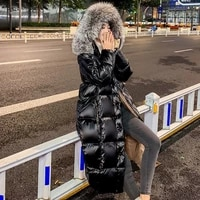 2020 women coat 90 white duck down jacket winter hooded parkas hight quality outerwear female thick warm down coat fur collar