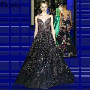 Newest Glitter Long Prom Dress 2020 Strapless Fashion Show Red Carpet Dress Turkish Evening Women Dress Party robe de soiree