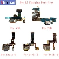 usb charging dock port connector board parts flex cable for lg v30 v40 thinq v50 thinq 5g stylo 4 5 6 q7 replacement part