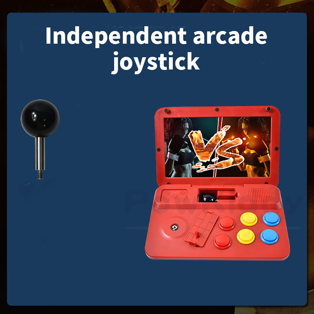 Powkiddy A13 Retro Hand-Held Gaming Device Arcade 10-Inch High-Definition Large-Screen Game Console Folding Flip Rk3128 Chip enlarge