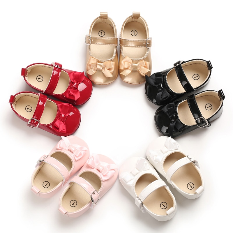 Sweet Infants Crib Shoes Sneakers First Walker Baby Shoes Baby Moccasins Newborn Shoes PU Leather Baby Girl Shoes