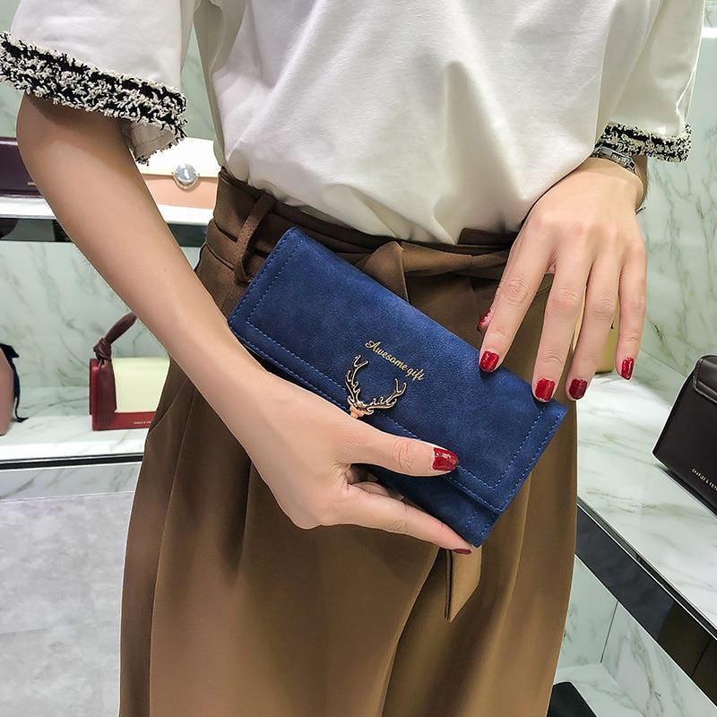 Wallet Women's New Hand Bag Women's Fashion Ins Fenglutou Hardware Zero Wallet