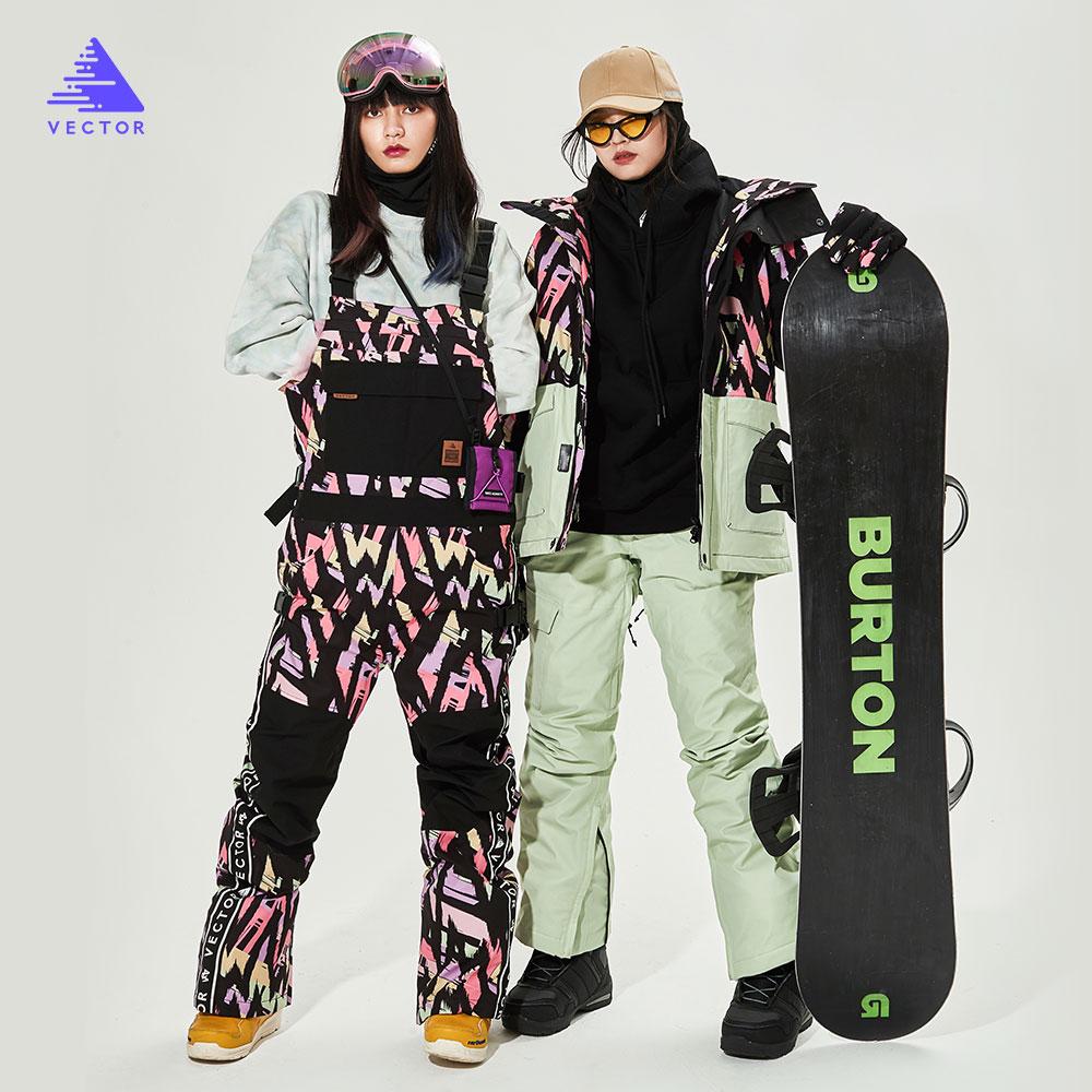 VECTOR-سترة تزلج للرجال والنساء ، سروال تزلج ، مريلة ، وزرة شتوية دافئة ، مقاومة للرياح ، مقاومة للماء ، للرياضات الخارجية على الجليد