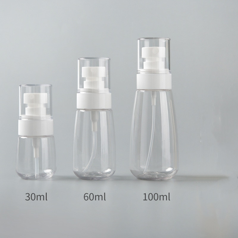 Portable Transparent Empty Spray Bottles 30ml/60ml/100ml Plastic Mini Refillable Container Empty Cosmetic Containers недорого