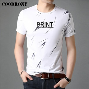 COODRONY Brand Spring Summer High Quality Cotton Tees Streetwear Fashion Pattern Casual O-Neck Short Sleeve T-Shirt Men C5120S