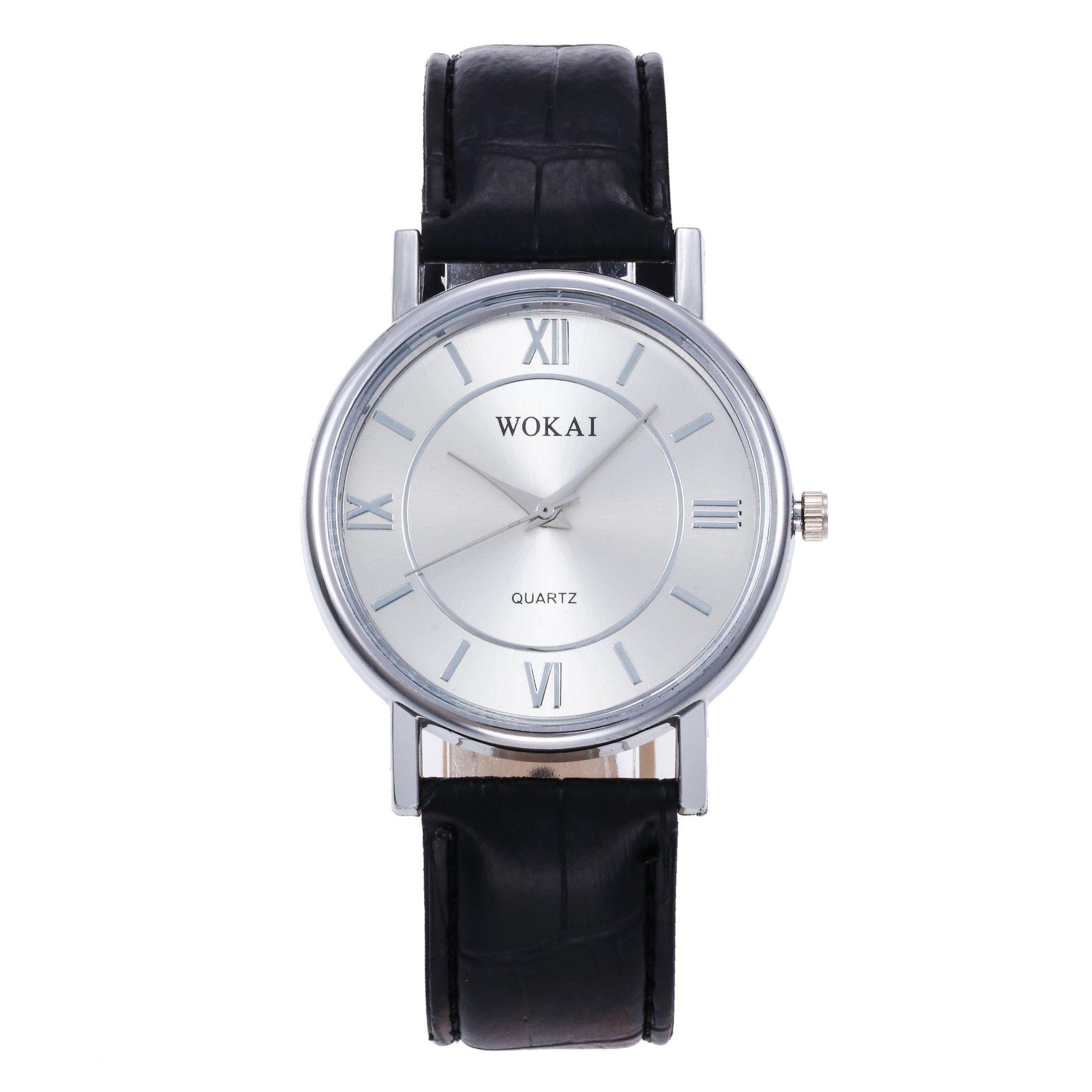Quartz Watch Fashionable casual strap watch Scale wokai Dial Waterproof Reverse Watch Leather Boy St