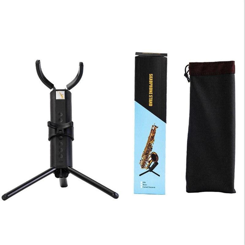 Saxofón saxofón Alto portátil plegable negro saxofón Tenor Alto soporte saxofón trípode Accesorios