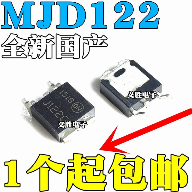 Original novo 5pcs/ MJD122G MJD122T4G MJD122 TIP122 SOT-252