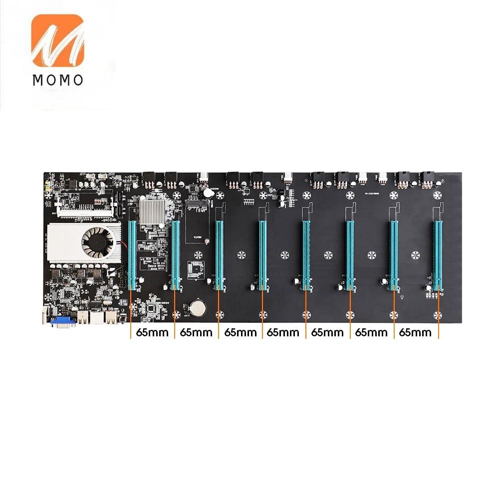 BTC-S37 8 GPU Mining Motherboard BTC-D37 BTC-T37 CPU Set Miner Video Card Slot Memory Adapter Integrated Consumption