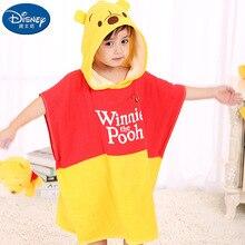 Ourson jaune coton enfant à capuche serviette de bain serviettes de plage Minnie Mickey mouse cape coton peignoir dessin animé serviette de bain