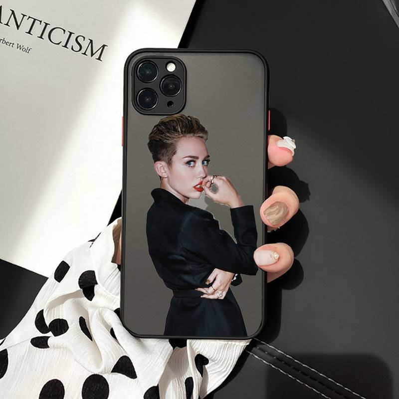 Miley Cyrus Phone Case For iphone 12 11 7 8 plus mini x xs xr pro max matte transparent  cover